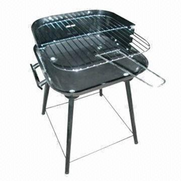 China Charcoal Barbecue Grill, Made of Steel, with One Plastic Handle and Four Support