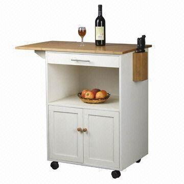 Wood kitchen trolley with drawer knife holder and cabinet global sources - Kitchen cabinets trolleys pictures ...