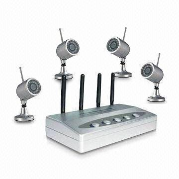 Wireless USB Network DVR Kit with Multichannel Display and Motion Detection, Audio Monitoring
