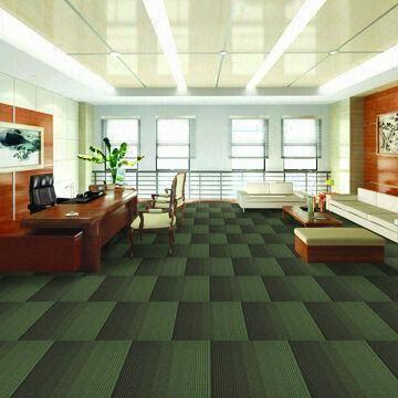Carpet Tiles With Graudated Tint Design And Pvc Backing