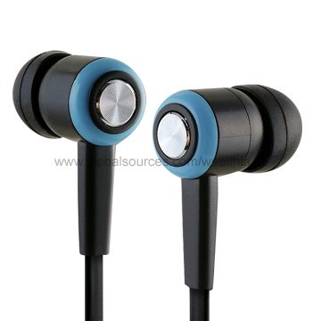 Hong Kong SAR 2-color Flat Cable Earphones with 1.2m Cord Length, OEM Orders are Welcome