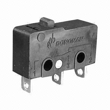 10(4)A 10GPA 125/250V AC Micro Switch with UL, cUL, ENEC, TUV, CE, EK and CQC Approvals