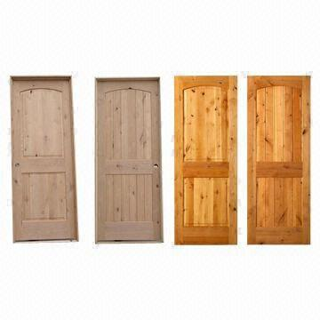 Solid Knotty Alder Interior Doors With Frame And Architraves