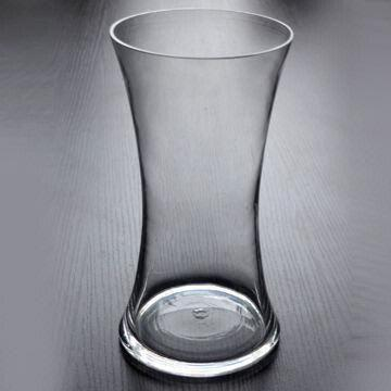 Clear Glass Vase With Thin Waist And Mouth Blown Process Global