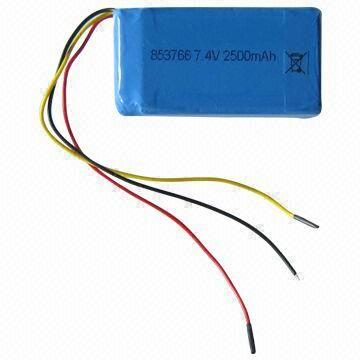 China Li-polymer Battery Pack with 7.4V Voltage
