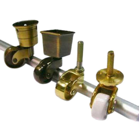 Solid Brass Furniture Caster with Antique Finish, Various Types are Available