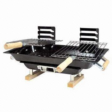 China Japanese Style Hibachi Table/Couple BBQ Grill, Double Cooking Grids, Tabletop BBQ Grills