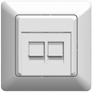 Telephone Rj11 + Computer Rj45 Wall Socket | Global Sources
