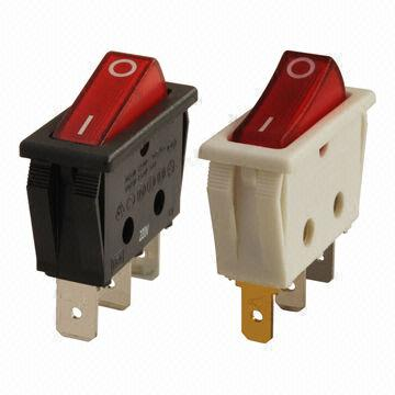 Lighted Rocker Switches: Rocker switch from Canal Components Inc.,Lighting