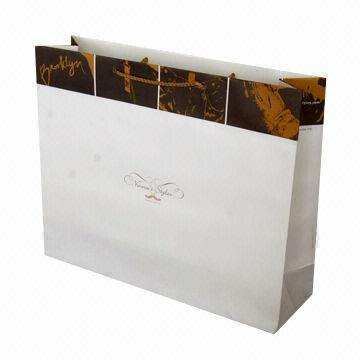 Paper Bag with PP Handle, Made of 190g Ivory Board Paper