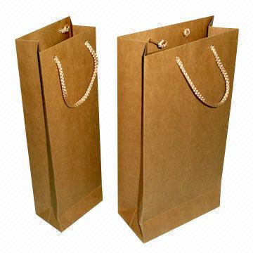Paper Bag with PP Handle, Made of 150g Kraft Paper
