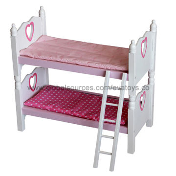 China Wooden Doll Bed With Furniture Wooden Doll Bed Doll Bunk Bed