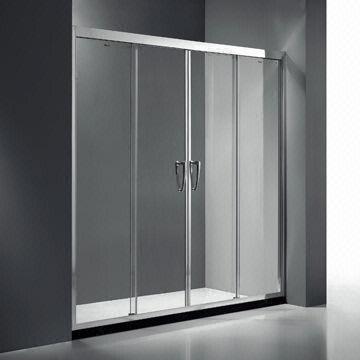 Reverse Double Sliding Door Shower Screen With 10mm