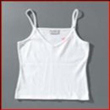 Ladies Tank Top, 140gsm, 95% cotton 5% Lycra (Spandex), Carded Yarn, 34/1 Yarn Count, Single Jersey