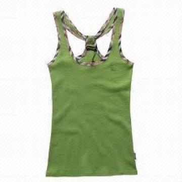 Bangladesh Ladies Vest, 100% Cotton, Fabric Consturction 110X76/45X45, Wrinkle free