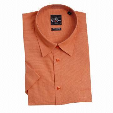 Non iron men 39 s short sleeve dress shirt made of 60 for Men s no iron dress shirts