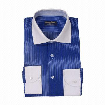 men 39 s dress shirt made of 100 cotton collar contrast