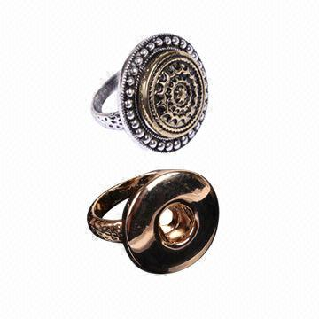 2014 New Fashionable DIY Jewelry/Replace Alloy Cocktail Rings, Customized Requirements are Accepted