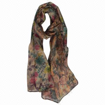 Fashionable women's scarf,made of polyester,double-side printed,Available in various colors/designs