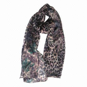 Fashion Women's Scarf, Long, Double-side Printing, Polyester, Available in Various Colors/Styles