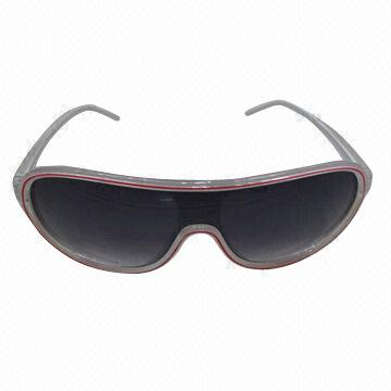 Fashion Sunglasses, Plastic Frame and PC Temple, Various Colors Available, Customized Designs