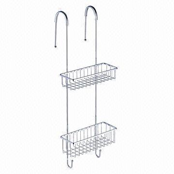 Stainless Steel 304 18 8 Bathroom 2 Tier Hanging Basket