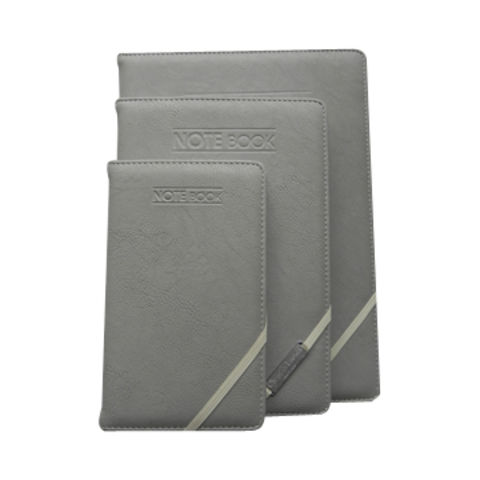 China PU Leather Notebooks with Elastic Band Closure
