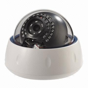Megapixel dome IP CCTV Camera with Low Lux, Supports TF Card, for Indoor/Outdoor Use