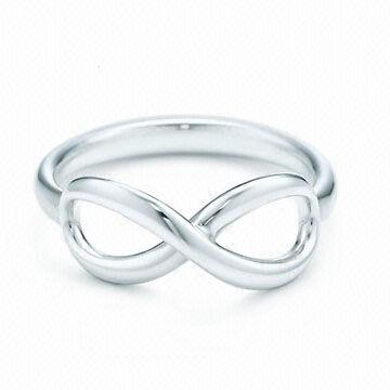 China Infinity rings for women and men, in silver color, 2013 hot selling