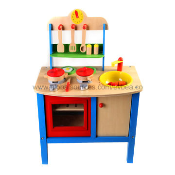 2013 Kids' Wooden Play Kitchen Set with 51x69x31cm size, Made of
