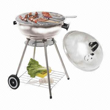 "China Trolley kettle charcoal grill, stainless steel, 18"", 45cm diameter"