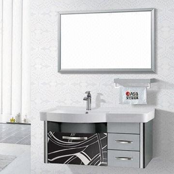Modern Stainless Steel Bathroom Vanity with Ceramic Basin ...