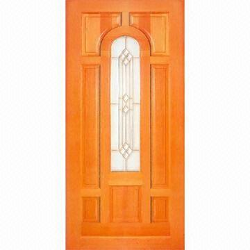 Eco Friendly Interior Solid Wood Door Made Of Ash Red