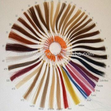 Remy Human Hair Color Ring Color Chart | Global Sources