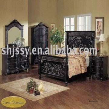 European Style Solid Wood Antique Js809 Bedroom Furniture Global Sources