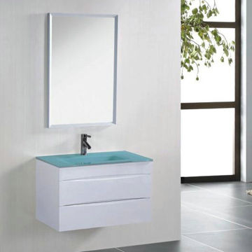 China Glass Basin PVC Bathroom Cabinet from Hangzhou Manufacturer ...