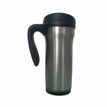 Hong Kong SAR Stainless Steel Vacuum Mug with Plastic Handle, Volume of 450mL