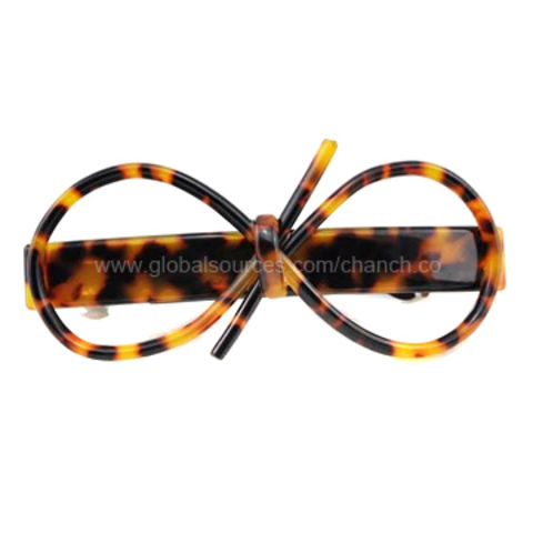 China New Arrival Hair Clips with Plastic Glasses Pattern, Various Colors and Designs are Available
