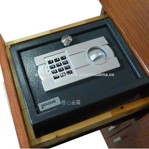 China Draw Safe with Electronic Lock/Two Emergency Keys, Round Chrome Handle, Size of 300x165x218mm