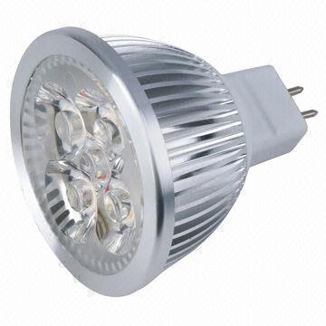 China 5W MR16-GU5.3 LED Spotlight Bulb with 4 x 1W LED and 380 Lumen Output