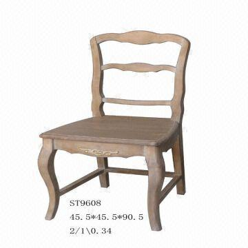 China Solid Wood Furniture Antique Style French Type Dining Room Set Chair