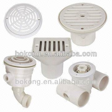 Abs Swimming Pool Equipment Swimming Pool Accessories Wall Return Main Drain Outlet Fitting