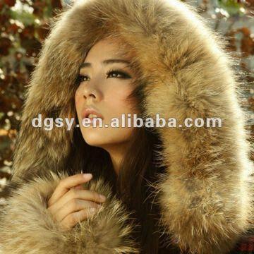 2012 Unique Women Winter Coats with Raccoon Sleeve | Global Sources