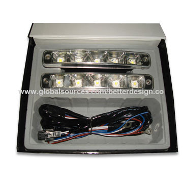 LED Daytime Running Light with 9 to 32V DC Voltage, Housing Made of Aluminum