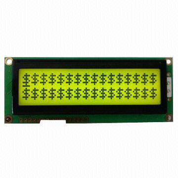 16 x 2 Characters LCM/Dot-matrix LCD Module, Big Size Fonts/15-, 16+, Module Sized 100 x 38.8 x 12mm