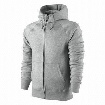 Men's zip hoodies, sweatshirt,made of heavyweight cotton fleece, with hood, custom logos and labels