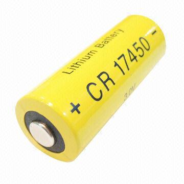 Hong Kong SAR CR17450 - Manganese Dioxide Cylindrical Battery with Current of 3,000mA, for Car Alarm System