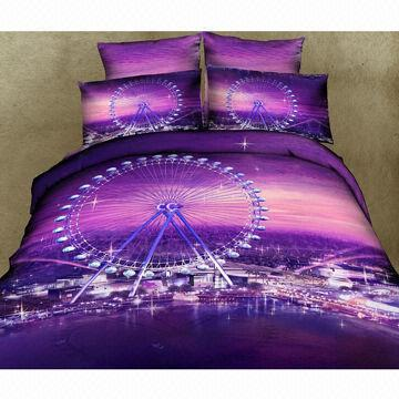 100 Cotton Active Print 3d Bedding Set Global Sources