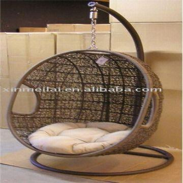 rattan hang chair garden swing chair egg chair global sources. Black Bedroom Furniture Sets. Home Design Ideas