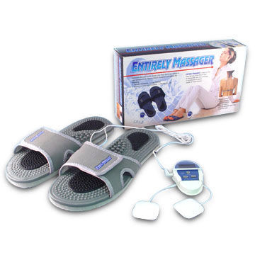 Massage Slippers with One CR2032 Battery and Two Electrode Pads